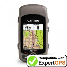 Download your Garmin Edge 605 waypoints and tracklogs and create maps with ExpertGPS