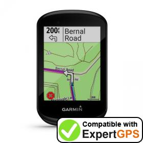 Download your Garmin Edge 830 waypoints and tracklogs and create maps with ExpertGPS