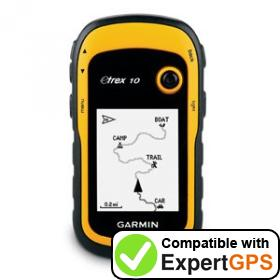 Download your Garmin eTrex 10 waypoints and tracklogs and create maps with ExpertGPS