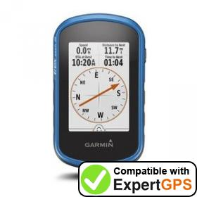 Download your Garmin eTrex Touch 25 waypoints and tracklogs and create maps with ExpertGPS