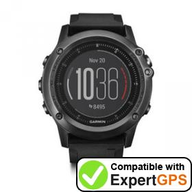 Download your Garmin fēnix 3 Sapphire HR waypoints and tracklogs and create maps with ExpertGPS