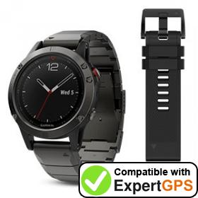 Download your Garmin fēnix 5 waypoints and tracklogs and create maps with ExpertGPS