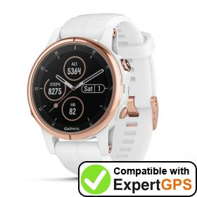 Download your Garmin fēnix 5S Plus waypoints and tracklogs and create maps with ExpertGPS