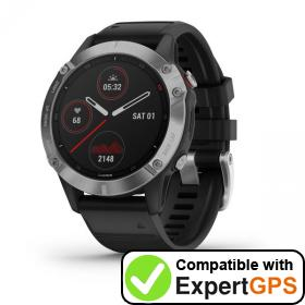 Download your Garmin fēnix 6 waypoints and tracklogs and create maps with ExpertGPS
