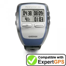 Download your Garmin Forerunner 205 waypoints and tracklogs and create maps with ExpertGPS