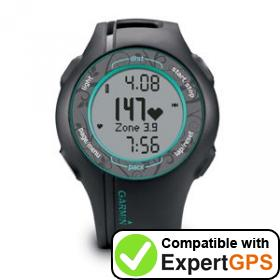 Download your Garmin Forerunner 210 waypoints and tracklogs and create maps with ExpertGPS