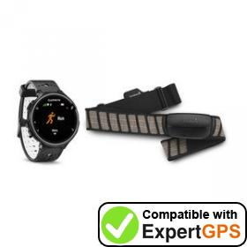 Download your Garmin Forerunner 230 waypoints and tracklogs and create maps with ExpertGPS
