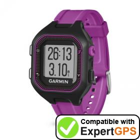 Download your Garmin Forerunner 25 waypoints and tracklogs and create maps with ExpertGPS