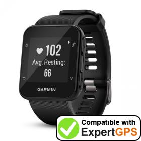 Download your Garmin Forerunner 35 waypoints and tracklogs and create maps with ExpertGPS