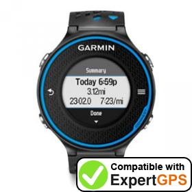 Download your Garmin Forerunner 620 waypoints and tracklogs and create maps with ExpertGPS