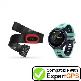 Download your Garmin Forerunner 735XT waypoints and tracklogs and create maps with ExpertGPS