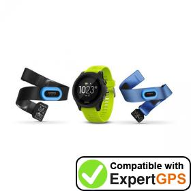 Download your Garmin Forerunner 935 waypoints and tracklogs and create maps with ExpertGPS
