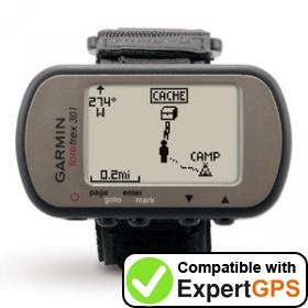 Download your Garmin Foretrex 301 waypoints and tracklogs and create maps with ExpertGPS