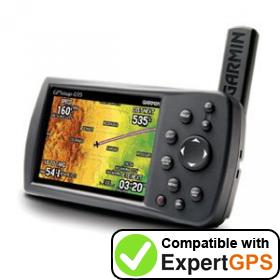 Download your Garmin GPSMAP 495 waypoints and tracklogs and create maps with ExpertGPS