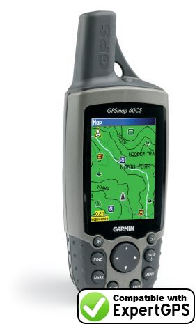 Download your Garmin GPSMAP 60CS waypoints and tracklogs and create maps with ExpertGPS