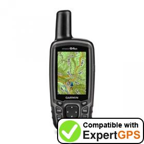 Download your Garmin GPSMAP 64st waypoints and tracklogs and create maps with ExpertGPS