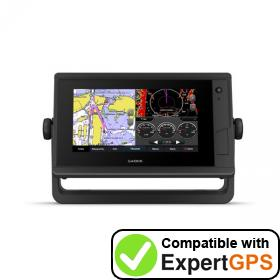 Download your Garmin GPSMAP 722 Plus waypoints and tracklogs and create maps with ExpertGPS