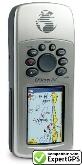 Download your Garmin GPSMAP 76C waypoints and tracklogs and create maps with ExpertGPS