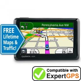 Download your Garmin nüvi 1390LMT waypoints and tracklogs and create maps with ExpertGPS