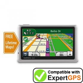 Download your Garmin nüvi 1450LM waypoints and tracklogs and create maps with ExpertGPS