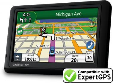 Download your Garmin nüvi 1490LMT waypoints and tracklogs and create maps with ExpertGPS