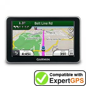 Download your Garmin nüvi 2350 waypoints and tracklogs and create maps with ExpertGPS