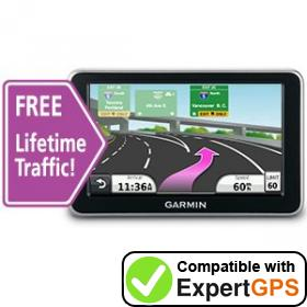 Download your Garmin nüvi 2370LT waypoints and tracklogs and create maps with ExpertGPS