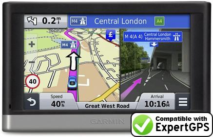 Download your Garmin nüvi 2407LMT waypoints and tracklogs and create maps with ExpertGPS