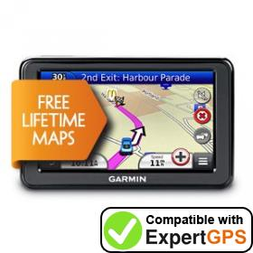Download your Garmin nüvi 2455LM waypoints and tracklogs and create maps with ExpertGPS