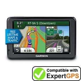 Download your Garmin nüvi 2455LMT waypoints and tracklogs and create maps with ExpertGPS