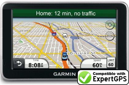 Download your Garmin nüvi 2460LT waypoints and tracklogs and create maps with ExpertGPS
