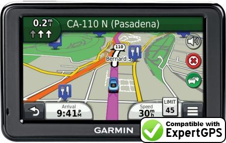 Download your Garmin nüvi 2475LT waypoints and tracklogs and create maps with ExpertGPS