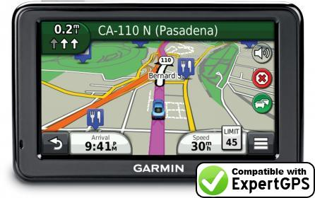 Download your Garmin nüvi 2498LMT waypoints and tracklogs and create maps with ExpertGPS