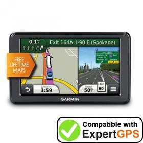 Download your Garmin nüvi 2555LM waypoints and tracklogs and create maps with ExpertGPS