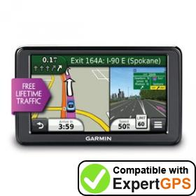 Download your Garmin nüvi 2555LT waypoints and tracklogs and create maps with ExpertGPS