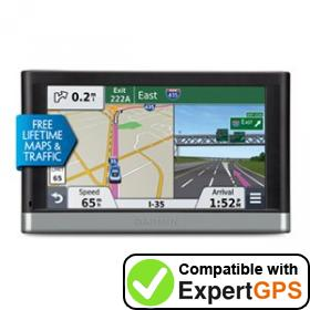 Download your Garmin nüvi 2558LMTHD waypoints and tracklogs and create maps with ExpertGPS