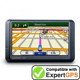 Download your Garmin nüvi 255WT waypoints and tracklogs and create maps with ExpertGPS