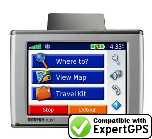 Download your Garmin nüvi 300 waypoints and tracklogs and create maps with ExpertGPS