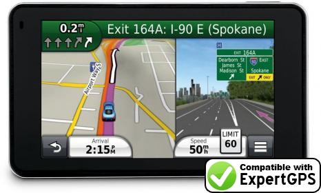 Download your Garmin nüvi 3460LT waypoints and tracklogs and create maps with ExpertGPS