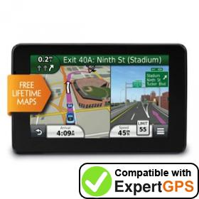 Download your Garmin nüvi 3550LM waypoints and tracklogs and create maps with ExpertGPS