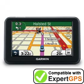 Download your Garmin nüvi 40LM waypoints and tracklogs and create maps with ExpertGPS