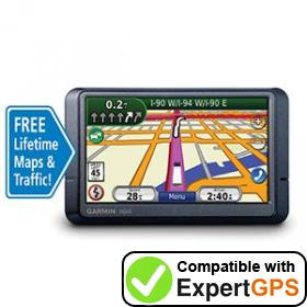 Download your Garmin nüvi 465LMT waypoints and tracklogs and create maps with ExpertGPS