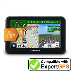 Download your Garmin nüvi 50LM waypoints and tracklogs and create maps with ExpertGPS