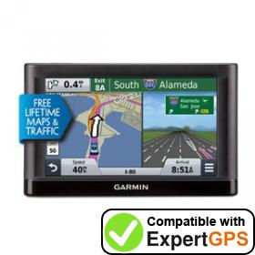 Download your Garmin nüvi 55LMT waypoints and tracklogs and create maps with ExpertGPS
