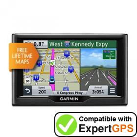 Download your Garmin nüvi 58LM waypoints and tracklogs and create maps with ExpertGPS