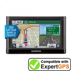 Download your Garmin nüvi 65LMT waypoints and tracklogs and create maps with ExpertGPS