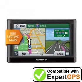 Download your Garmin nüvi 66LM waypoints and tracklogs and create maps with ExpertGPS