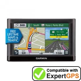 Download your Garmin nüvi 66LMT waypoints and tracklogs and create maps with ExpertGPS