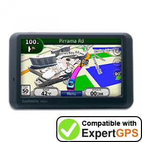 Download your Garmin nüvi 765 waypoints and tracklogs and create maps with ExpertGPS