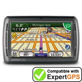 Download your Garmin nüvi 885T waypoints and tracklogs and create maps with ExpertGPS